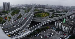 Wuhan road junction. Road junction in Wuhan city China, Wuchang district royalty free stock photo