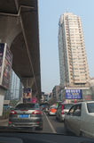 Wuhan stadsgata royaltyfria foton