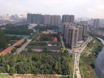 Wuhan stadshorisont royaltyfri fotografi