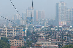 Wuhan stadsplats - kabelbil Royaltyfria Bilder