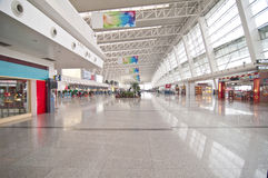 Wuhan Tianhe airport. In China Wuhan Tianhe International Airport hall Royalty Free Stock Images