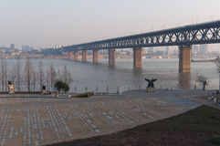 Wuhan Yangtze River Bridge Stock Image