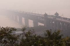 Wuhan yangtze river bridge Stock Photo