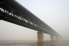 Wuhan Yangtze River Bridge Stock Photography