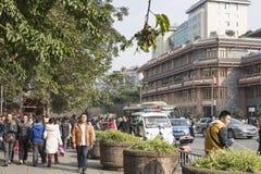 Wuhou Memorial temple street Royalty Free Stock Images