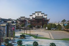 Wuhu kuizi ancient town. The town is an ancient town in wuhu, anhui province, China. It is a small town that combines tourism and business stock photography