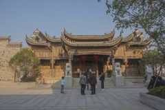 Wuhu kuizi ancient town. The town is an ancient town in wuhu, anhui province, China. It is a small town that combines tourism and business stock photos