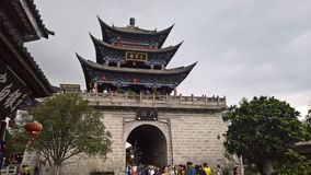 Wuhua building in the ancient city of Dali, China Stock Image