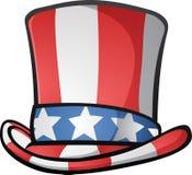 Wujek Sam Odgórnego kapeluszu kreskówki Amerykańska ilustracja Zdjęcie Royalty Free