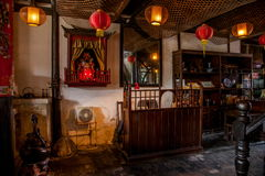 Wujiang City in the ancient town of South Park Tea House stage Royalty Free Stock Image