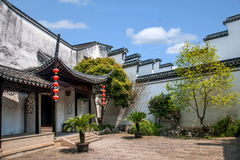 Wujiang City Tongli Town Jiayin Tang. Jiayin Tang, located in the Juxing Street You Nongkou, built in the early years of the Republic, there are four into the royalty free stock photography