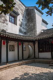 Wujiang City Tongli Town Jiayin Tang. Jiayin Tang, located in the Juxing Street You Nongkou, built in the early years of the Republic, there are four into the royalty free stock images