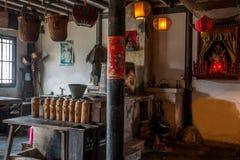 Wujiang miasto w antycznym miasteczku South Park Herbacianego domu scena Obraz Stock