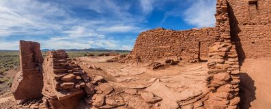 Wukoki губит комплекс в национальном монументе Wupatki, Аризоне Стоковые Фото