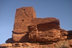 Wukoki Pueblo Ruins Royalty Free Stock Photos