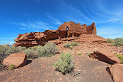 Wukoki pueblo in Wupatki National Monument near Flagstaff, Arizo Royalty Free Stock Photos