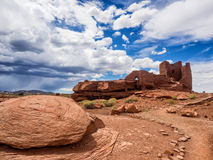 Wukoki Ruins complex in Wupatki national monument, Arizona Royalty Free Stock Photo