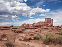 Wukoki Ruins complex in Wupatki national monument, Arizona Stock Images