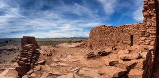 Wukokiruïnes complex in het nationale monument van Wupatki, Arizona Royalty-vrije Stock Afbeelding