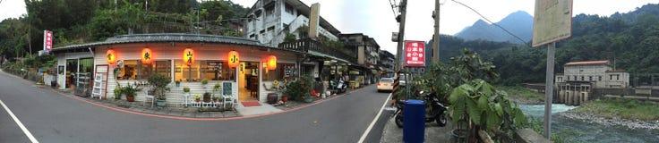 Wulai encima de paradas del restaurante de la colina imagen de archivo