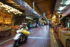 Wulai Oude Straat in Wulai, Taiwan Stock Afbeeldingen