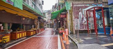 WULAI, TAIWAN - NOVEMBER 15, 2017: Main street on 15 November 20 Stock Photos