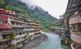 WULAI, TAIWAN - NOVEMBER 15, 2017: River in the center of the vi Stock Photos
