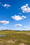 WulanBu όλο το αρχαίο τοπίο φθινοπώρου πεδίων μαχών λιβαδιών Στοκ Εικόνα