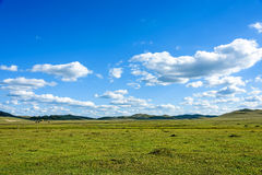 WulanBu all grassland ancient battlefield autumn scenery Royalty Free Stock Photography