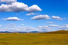 WulanBu all grassland ancient battlefield autumn scenery Stock Photo