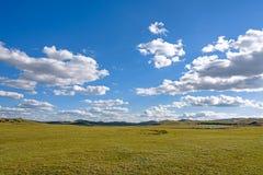 WulanBu all grassland ancient battlefield autumn scenery Royalty Free Stock Photography