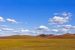 WulanBu all grassland ancient battlefield autumn scenery Royalty Free Stock Image