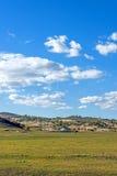 WulanBu all grassland ancient battlefield autumn scenery Stock Photography
