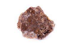 Wulfenite макроса минеральное каменное на белой предпосылке Стоковое фото RF