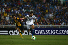 Wulfert van Ginkel. SHAH ALAM - JULY 21: Chelsea Football Club player Wulfert van Ginkel (white jersey) controls the ball in a friendly match with the Malaysian Stock Images
