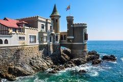Wulff城堡在比尼亚德尔马,智利 免版税图库摄影