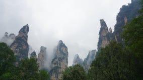 Wulingyuan sceniskt och historiskt intresseområde royaltyfri foto