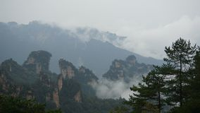Wulingyuan sceniskt och historiskt intresseområde arkivbilder