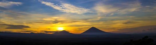 Wulkan Agung Zdjęcia Royalty Free