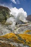 Wulkan, Dymi dziury w ziemi Fotografia Stock