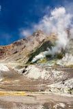 Wulkan, Dymi ziemię Obrazy Royalty Free