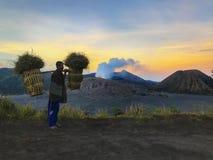 Wulkan góra Bromo, Malang Indonezja Obrazy Stock