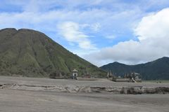 Wulkan góry Bromo erupcja, Wschodni Jawa Indonezja obraz stock