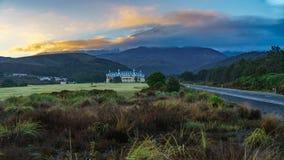 Wulkan góry ruapehu przy wschodem słońca, nowy Zealand 1 Obraz Royalty Free
