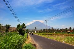 Wulkan Gunung Agung w Bali Zdjęcia Stock