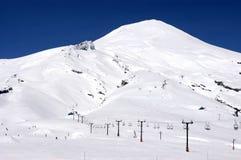Wulkan i w Chile Pucon ośrodek narciarski Villarrica fotografia royalty free