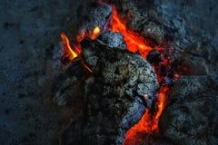 Wulkan lawa przy nocą Obrazy Royalty Free