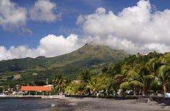 wulkan na plaży Obraz Royalty Free