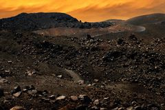 Wulkan Nea Kameni Fotografia Stock