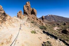 Wulkan Pico Del Teide, El Teide park narodowy, Tenerife, kanarek Zdjęcia Stock